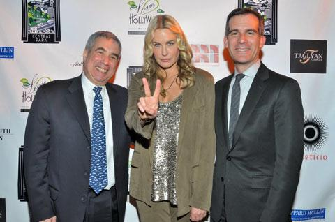 Photo of Daryl Hannah & her friend actress  Eric Garcetti -
